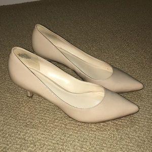 Nine West Beige Kitten Heel, Size 8.5